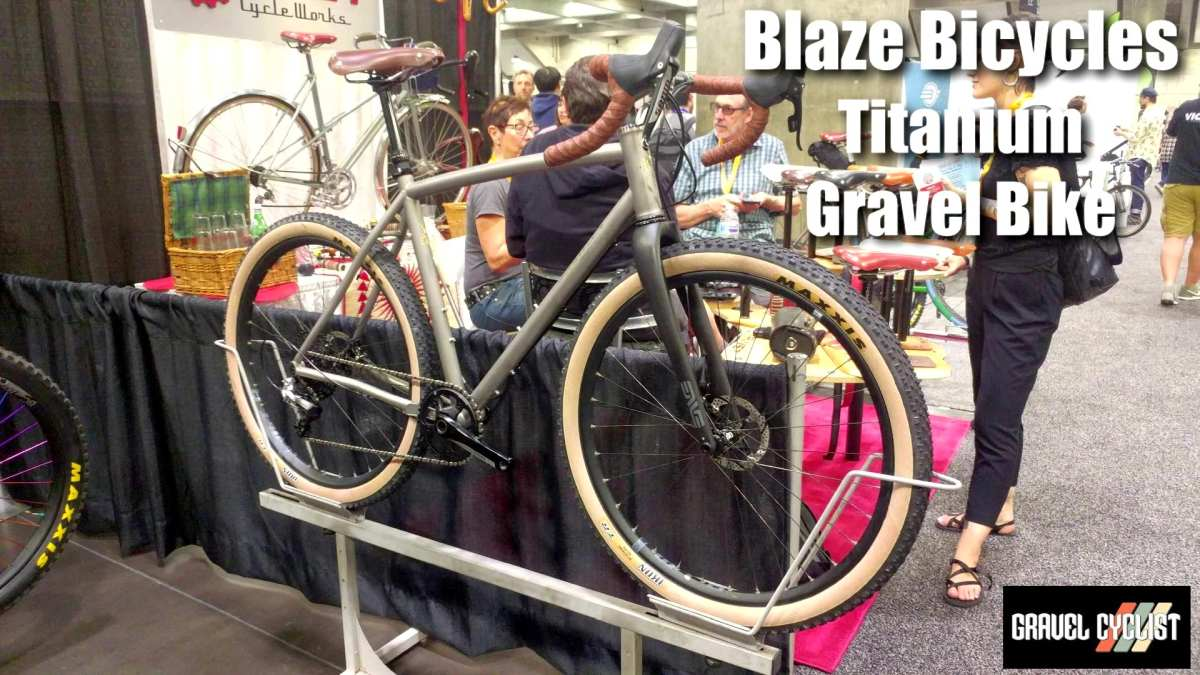 blaze bicycles titanium gravel bike nahbs 2019